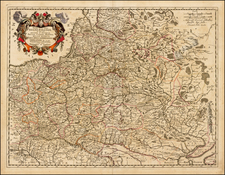 Poland, Russia, Ukraine and Baltic Countries Map By Clement de Jonghe