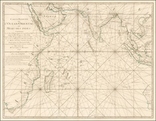 Indian Ocean, India, Southeast Asia, East Africa and African Islands, including Madagascar Map By Jacques Nicolas Bellin