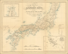 Japan Map By Phillip Franz von Siebold