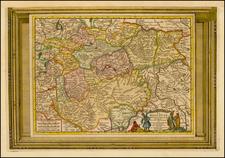 Russia and Ukraine Map By Pieter van der Aa