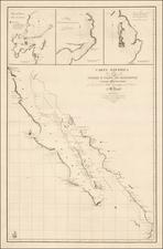 Mexico, Baja California and California Map By Aaron Arrowsmith