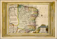 Brazil Map By Pieter van der Aa