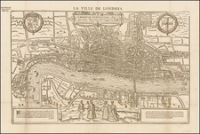 England and London Map By Francois De Belleforest