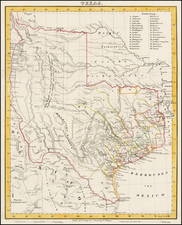 Texas Map By Carl Flemming