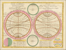 World, World and Curiosities Map By Vincenzo Maria Coronelli