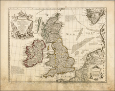 British Isles Map By Guillaume De L'Isle
