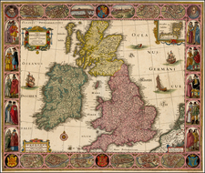 British Isles, Scotland and Ireland Map By Nicolaes Visscher I