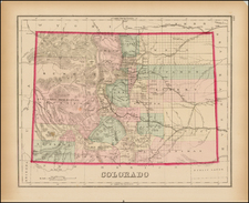 Southwest, Rocky Mountains and Colorado Map By O.W. Gray