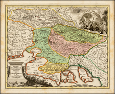 Austria and Balkans Map By Johann Christoph Weigel