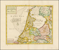 Netherlands Map By Giambattista Albrizzi
