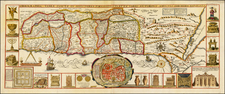 Holy Land Map By Jacobus Tirinus
