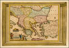 Balkans, Greece, Turkey and Turkey & Asia Minor Map By Pieter van der Aa