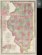 Midwest Map By John Mason Peck  &  John Messinger