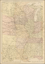 South, Texas, Midwest and Plains Map By Blackie & Son