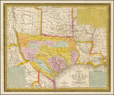 Texas Map By Samuel Augustus Mitchell / J.H. Young