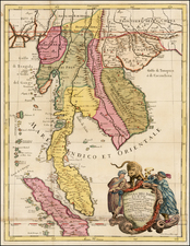 Southeast Asia Map By Giacomo Giovanni Rossi - Giacomo Cantelli da Vignola