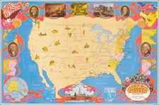 United States, Pictorial Maps and American Revolution Map By Hammond & Co.