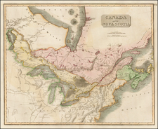 Midwest and Canada Map By John Thomson