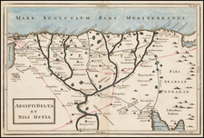 Egypt Map By Christoph Cellarius