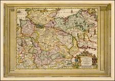 Germany Map By Pieter van der Aa