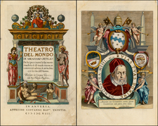 Title Pages Map By Abraham Ortelius