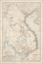 China and Southeast Asia Map By Depot de la Marine / Alfred-Leon Lemercier