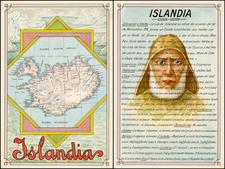 Atlantic Ocean and Iceland Map By Antonio F. Raggio