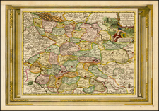 Germany Map By Pieter van der Aa