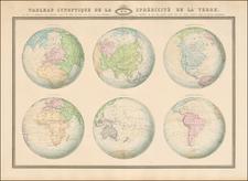 World and World Map By F.A. Garnier