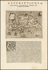 Caribbean Map By Tomasso Porcacchi
