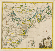 United States, North America and Canada Map By Thomas Kitchin