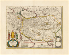 Central Asia & Caucasus and Middle East Map By Willem Janszoon Blaeu