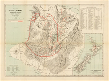 New Zealand Map By Royal Geographical Society