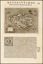 Scandinavia and Balearic Islands Map By Tomasso Porcacchi