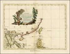 China and Philippines Map By Antonio Zatta
