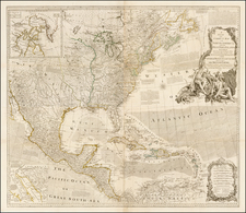 United States and North America Map By Robert Sayer