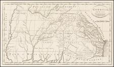 South, Southeast and Georgia Map By Mathew Carey