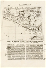 Central America Map By Vincenzo Maria Coronelli