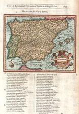 Europe, Spain and Portugal Map By Jodocus Hondius / Samuel Purchas