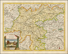 France Map By Giambattista Albrizzi