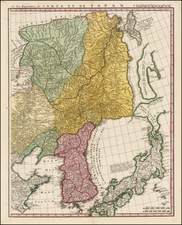 China, Japan, Korea and Russia in Asia Map By Homann Heirs