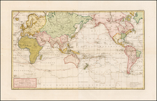 World, World and Pacific Map By Franz Anton Schraembl