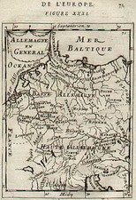 Europe and Germany Map By Alain Manesson Mallet