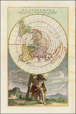 World, World, Northern Hemisphere and Polar Maps Map By Jan Barend Elwe