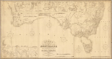 Australia Map By James Imray & Son