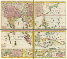 China, Japan, Korea, India, Southeast Asia, Philippines and Central Asia & Caucasus Map By Jan Barend Elwe