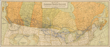 Midwest, Plains and Canada Map By Poole Brothers