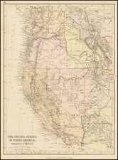 Southwest, Rocky Mountains and California Map By Blackie & Son