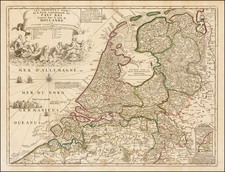 Netherlands Map By Vincenzo Maria Coronelli / Jean-Baptiste Nolin