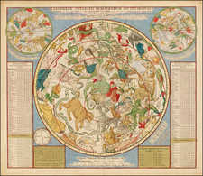 Celestial Maps Map By Johannes Covens  &  Cornelis Mortier